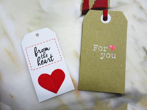 Etiquetas corazones