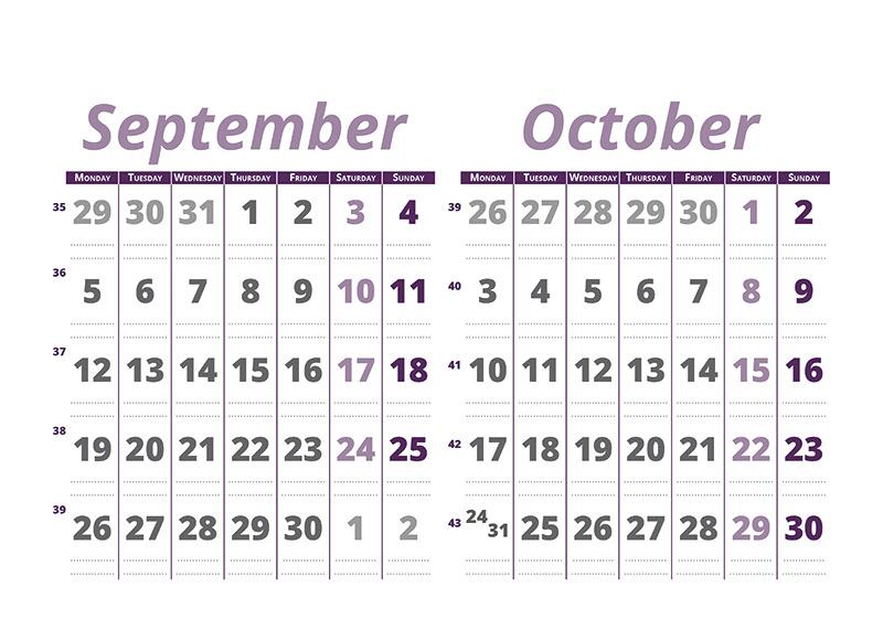 Calendario bimensual - Ara Profi