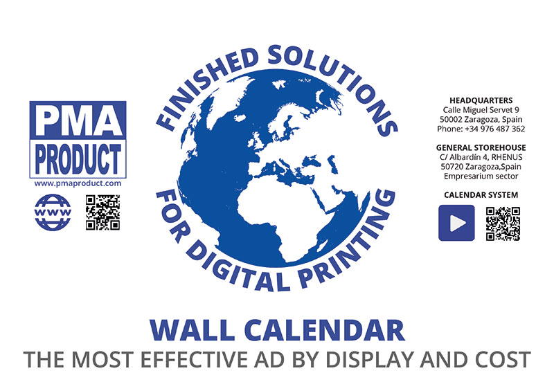 Portada de publicidad calendario