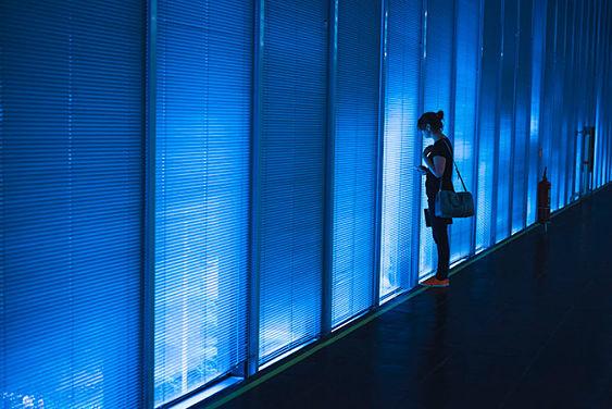 Habitación azul chica