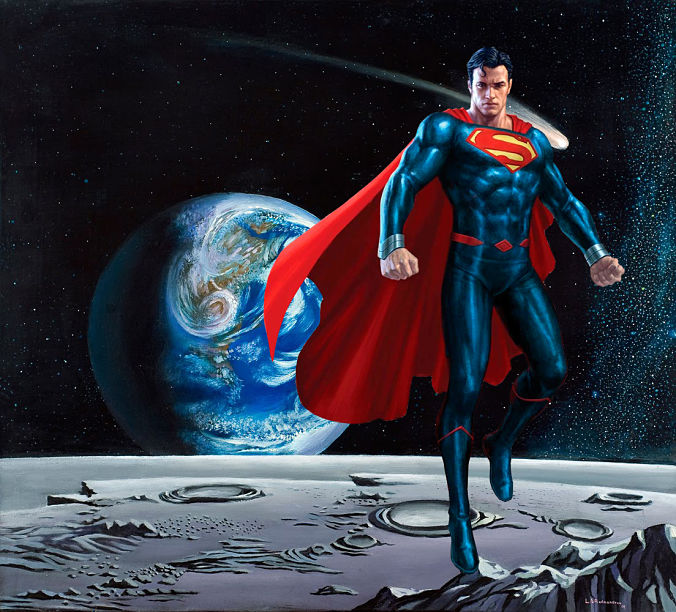 Superman en la luna