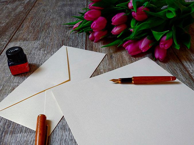 Carta con flores