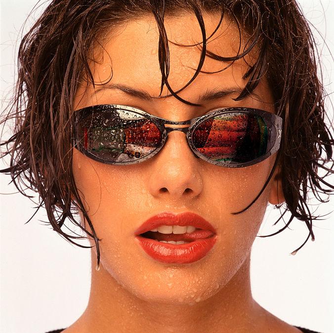 Reflejo coca cola en gafas de sol