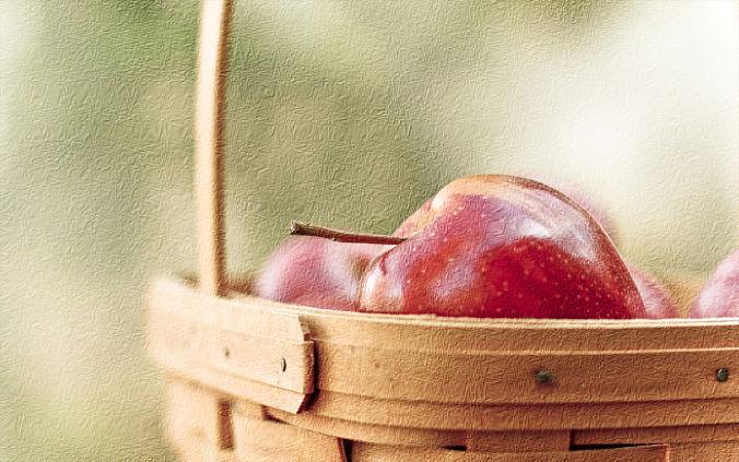 Textura cesto manzanas