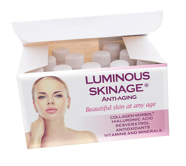 Mockup caja Luminous Skinage