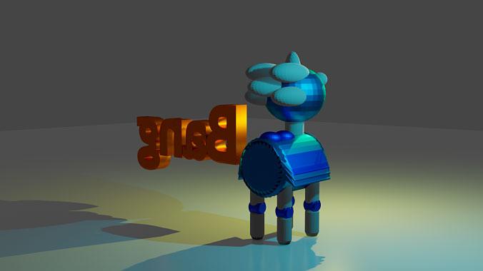 Robot 3D Blender - Natalia Ortiz