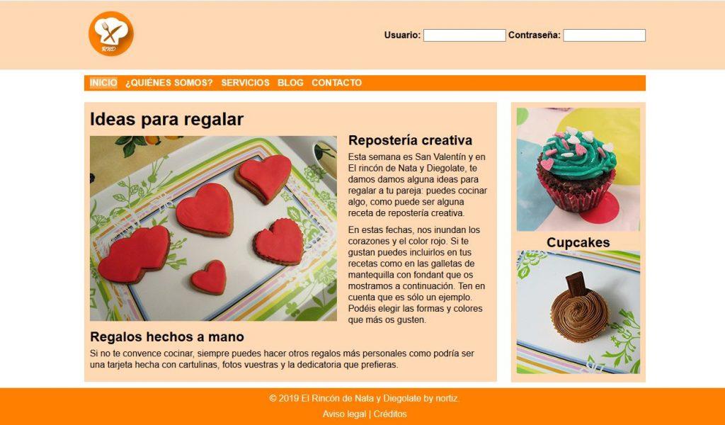 Web con ideas para regalar en San Valentín