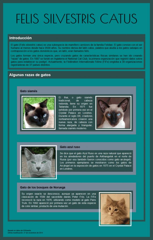 Web de gatos hecha con HTML5 y CSS3