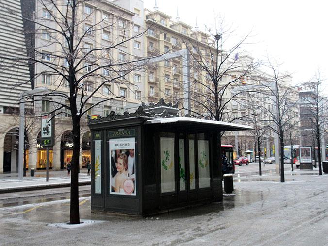 Paseo Independencia Zaragoza con nieve - Febrero 2018