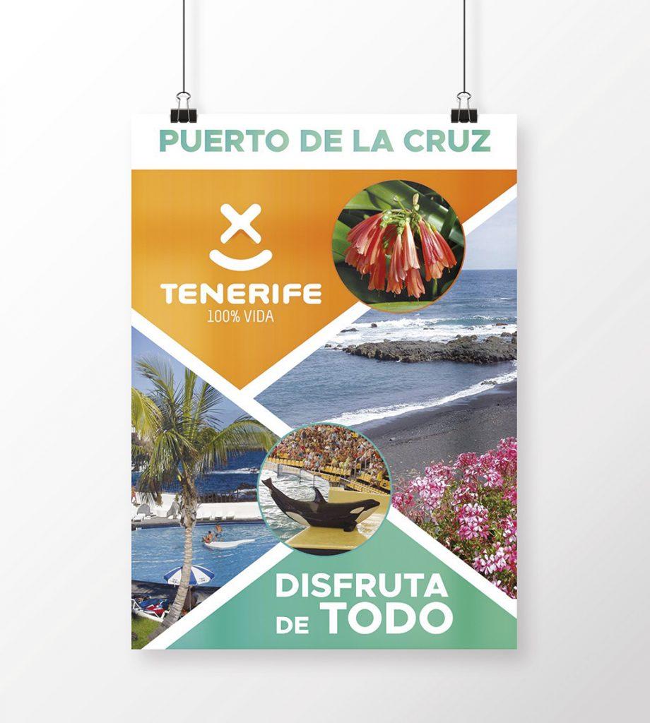 Cartel de Puerto de la Cruz en Tenerife