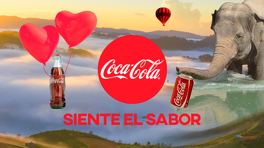 Fotomontaje fantástico Coca Cola
