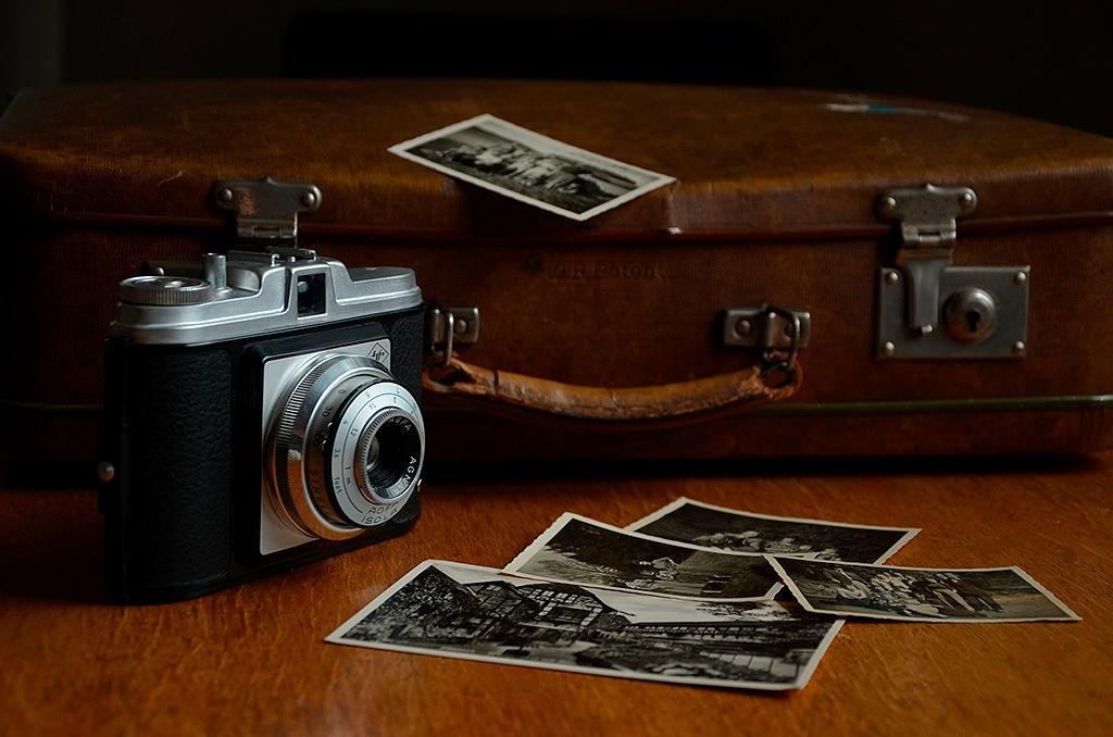 Cámara y fotos antiguas