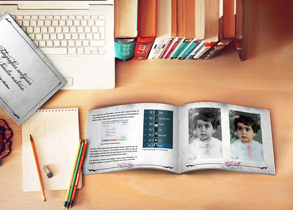 Cuaderno con fotografías antiguas familia Natalia Ortiz