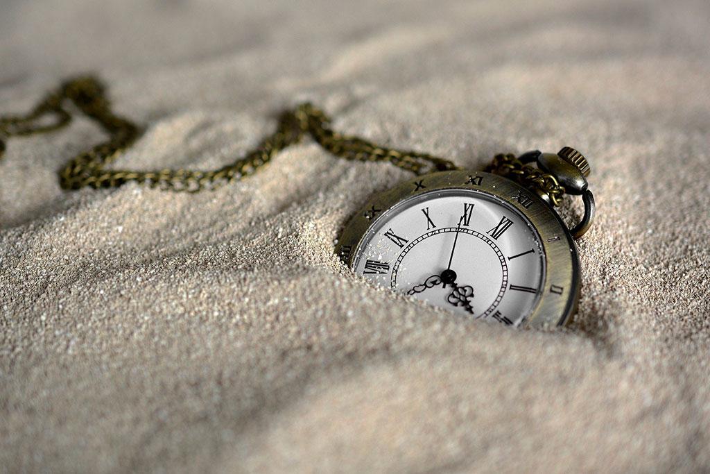 Reloj el tiempo avanza